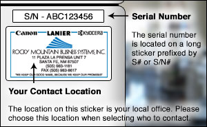 How to find  your serial number.